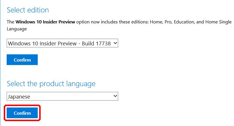 Windows 10 Insider Previewの新しいISOが公開、Build 17738 | Solomon